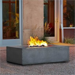 Natural Gas Fire Table in Glacier Gray