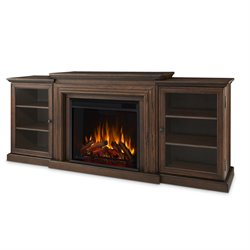 Real Flame Frederick Entertainment Electric Fireplace in Chestnut Oak Finish