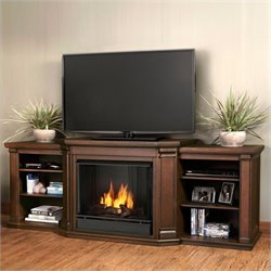Real Flame Valmont Entertainment Fireplace in Chestnut Oak Finish