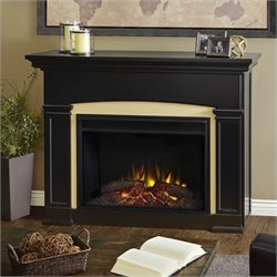 Real Flame Holbrook Electric Grand Fireplace in Black