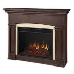 Real Flame Holbrook Electric Grand Fireplace in Dark Walnut