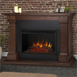 Real Flame Callaway Grand Electric Fireplace in Chesnut Oak