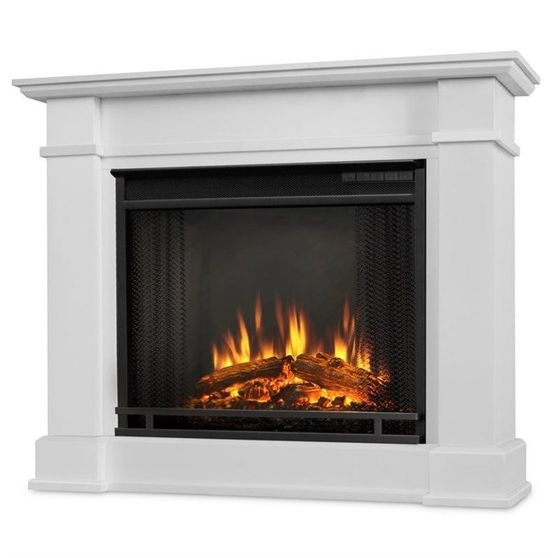 real flame devin indoor electric fireplace in white 1220e w