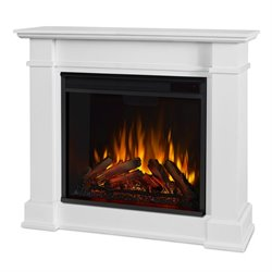 Real Flame Devin Indoor Electric Fireplace in White