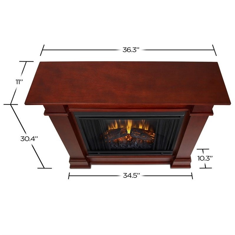 real flame devin indoor electric fireplace in dark