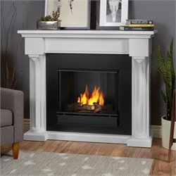 Real Flame Verona Indoor Gel Fireplace in White