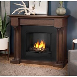 Real Flame Verona Indoor Gel Fireplace in Chesnut Oak
