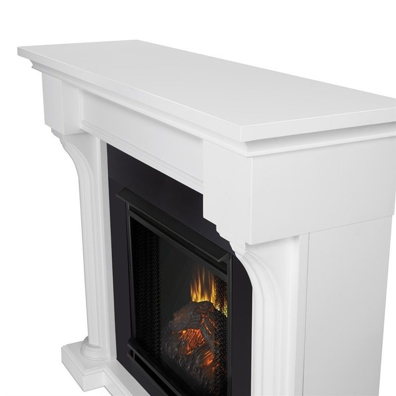 real flame verona indoor electric fireplace in white 5420e w