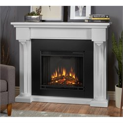 Real Flame Verona Indoor Electric Fireplace in White
