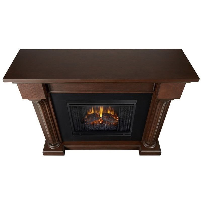 real flame verona indoor electric fireplace in chesnut oak