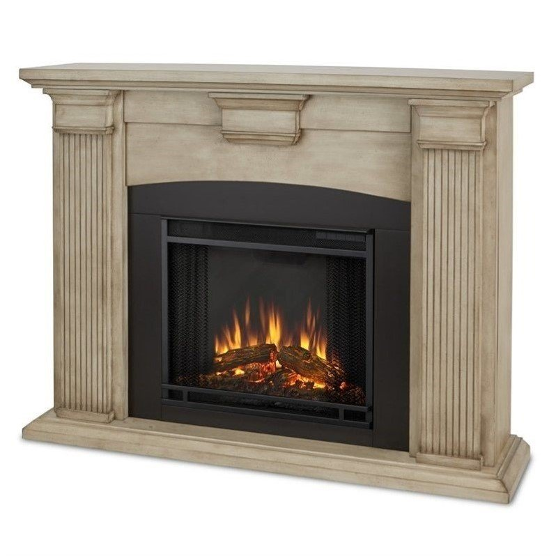 real flame adelaide indoor electric fireplace in dry brush