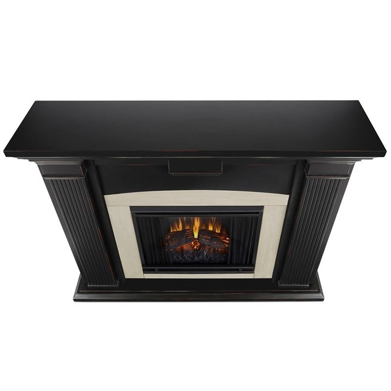 real flame adelaide indoor electric fireplace in black