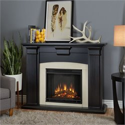 Real Flame Adelaide Indoor Electric Fireplace in Black Wash