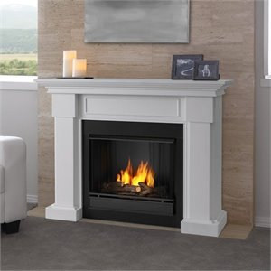 Real Flame Hillcrest Gel Fireplace White