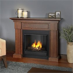 Real Flame Hillcrest Gel Fireplace Chesnut Oak