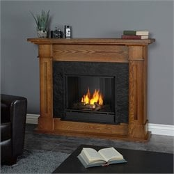 Real Flame Kipling Gel Fireplace Burnished Oak