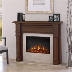 Real Flame Berkeley Electric Fireplace Chesnut Oak