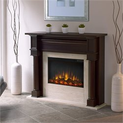 Real Flame Berkeley Electric Fireplace Dark Walnut