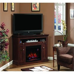 Classic Flame Windsor Fireplace in Brown Cherry