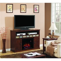 Classic Flame Sedona Fireplace in Caramel Oak