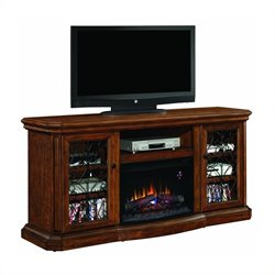 Classic Flame Beauregard TV Stand in Antique Caramel