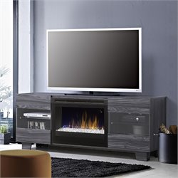 Max Fireplace TV Stand in Carbonized Walnut