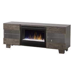 Max Fireplace TV Stand in Elm Brown