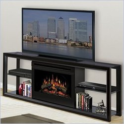 Dimplex Novara TV Stand with Electric Fireplace - Black