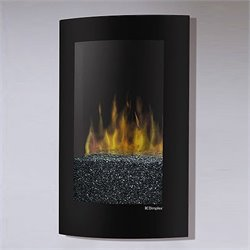 Dimplex Electraflame Curved Recessed Wall Mount Electric Fireplace in Black Finish