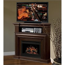 Dimplex Montgomery Corner Electric Fireplace in Espresso