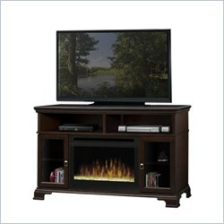 Dimplex Brookings Electric Fireplace w/ Glass Ember in Espresso