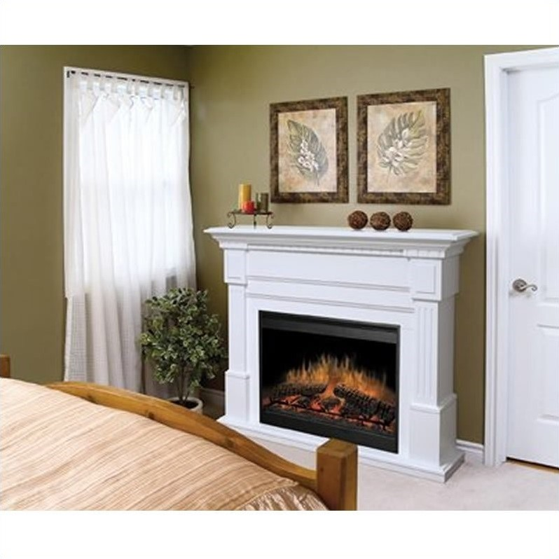 Dimplex Essex Electric Fireplace In White GDS30 1086W
