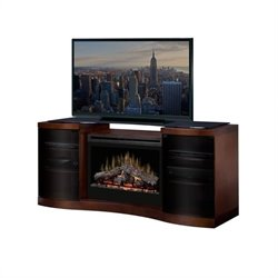 Dimplex Acton Electric Fireplace Media Console in Walnut
