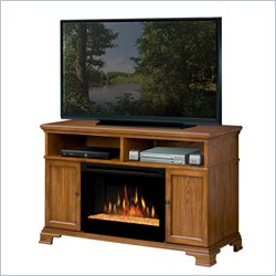 Dimplex Brookings Electric Fireplace Media Console in Dark Oak