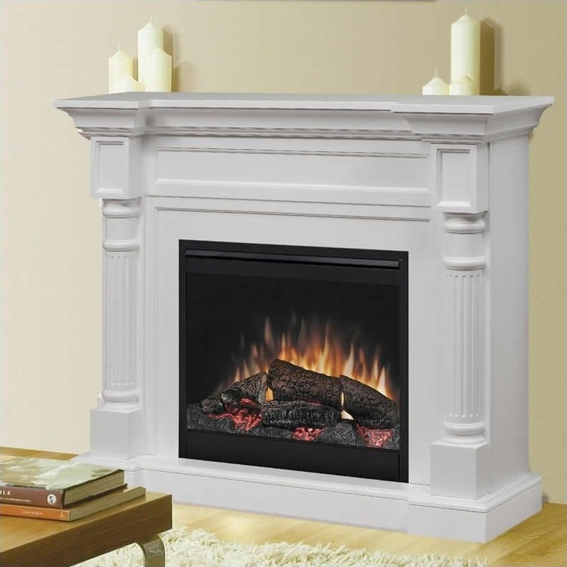 Winston Mantel Electric Fireplace in White