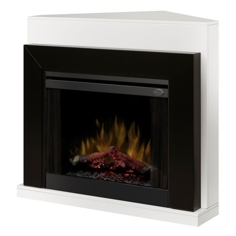 Dimplex Ebony Covertable Corner Electric Fireplace Black