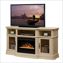 Dimplex Portobello Electric Fireplace Media Console in in Parchment