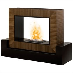 Dimplex Amsden Opti-myst Electric Fireplace in Black and Cinnamon