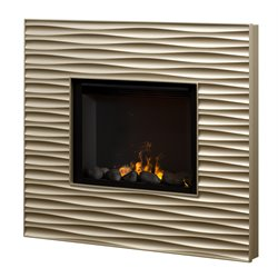 Dimplex Opti-myst Electric Fireplace package in Champagne