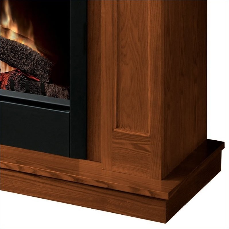Dimplex Caprice Free Standing Electric Fireplace in Warm Oak