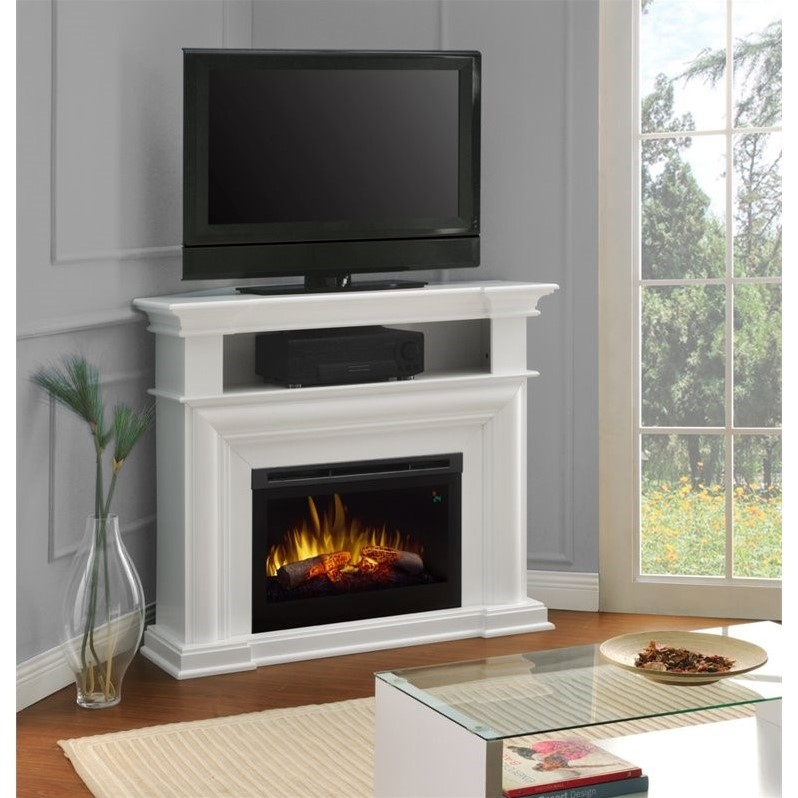 Dimplex Colleen Corner Tv Stand With Electric Fireplace In
