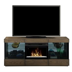 Dimplex Axel Electric Fireplace TV Stand in Raked Sand