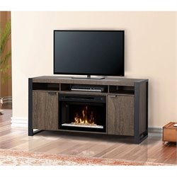 Dimplex Pierre Electric Fireplace TV Stand with Acrylic in Elm Brown