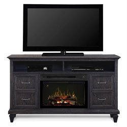 Dimplex Solomon Electric Fireplace TV Stand in Gray