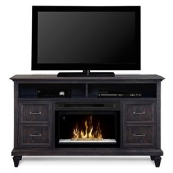 Dimplex Solomon Electric Fireplace TV Stand with Acrylic in Gray