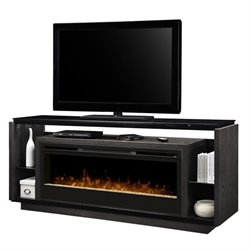 Dimplex David Glass Ember Bed Electric Fireplace TV Stand in Smoke