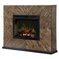 Dimplex Harris Electric Fireplace Mantel with Logset in Cassia