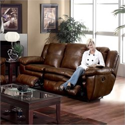 Catnapper Sonoma Leather Reclining Sofa in Sable