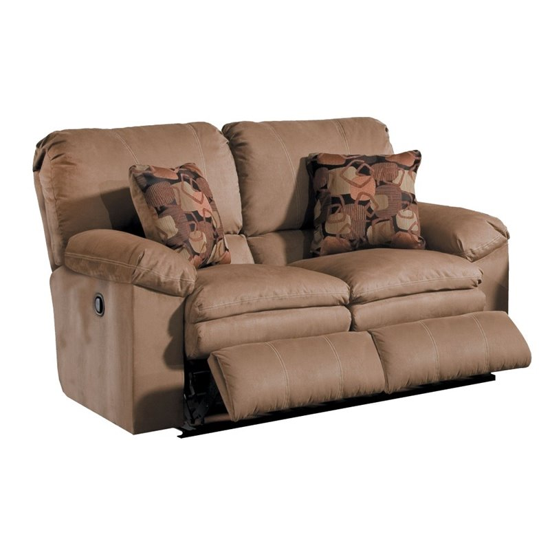 Catnapper impulse reclining loveseat in cafe and espresso for Catnapper cloud nine chaise recliner
