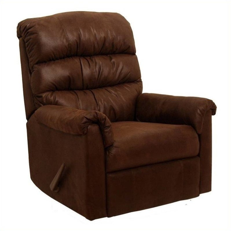 Capri Rocker Recliner Chair in Chocolate Microfiber